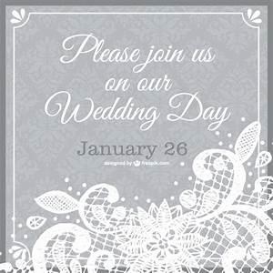 wedding invitation lace template vector free download With wedding invitation template freepik