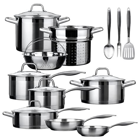 professional duxtop piece cookware stainless steel