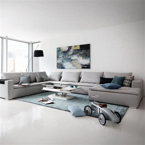 canapé méridienne cuir grand canapé canapé d 39 angle pour salon moderne côté maison