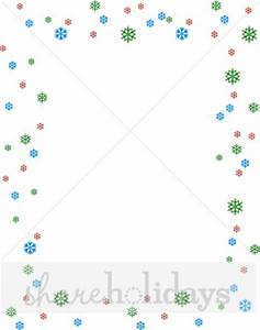 Cheerful Winter Snowflakes Christmas Letter Frame | Snow ...