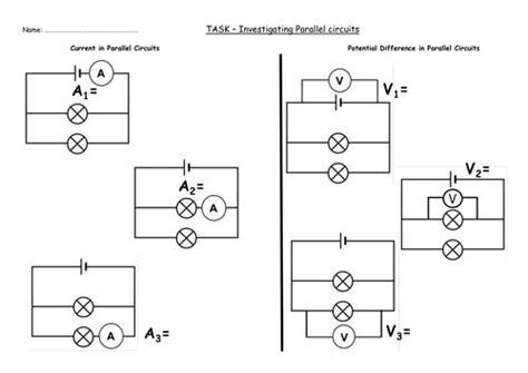 Electric Current Worksheet Oaklandeffect