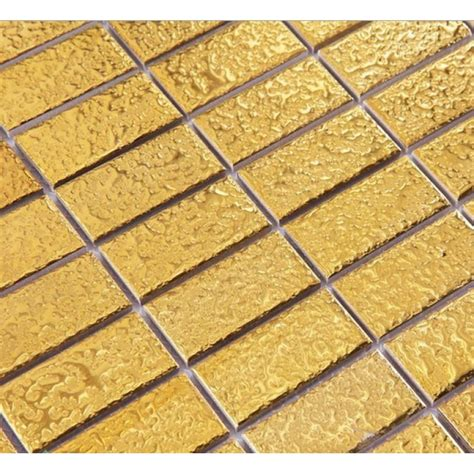 gold floor tiles gold eramic mosaic tile brick arabesque patterns kitchen backsplash bravotti com