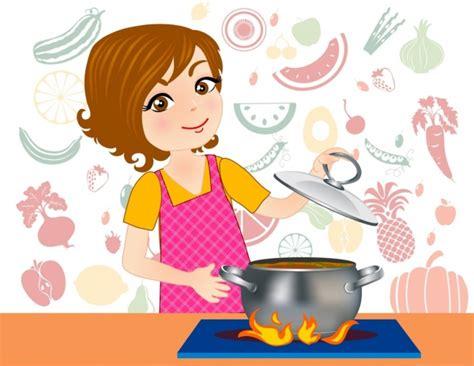 gambar kartun memasak  dapur desainrumahidcom