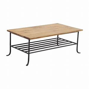 56 off rustic wrought iron and wood coffee table tables for Rustic wood and wrought iron coffee table