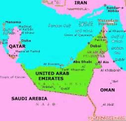 UAE United Arab Emirates Map