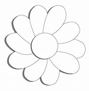 Black And White Flower Outline - Cliparts.co