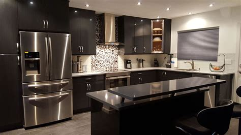 modern black kitchen design beautiful black kitchen cabinets design ideas 7581