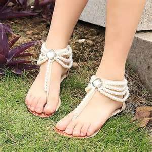 wedding shoes sandals pearl flat bridal shoes wedding shoes