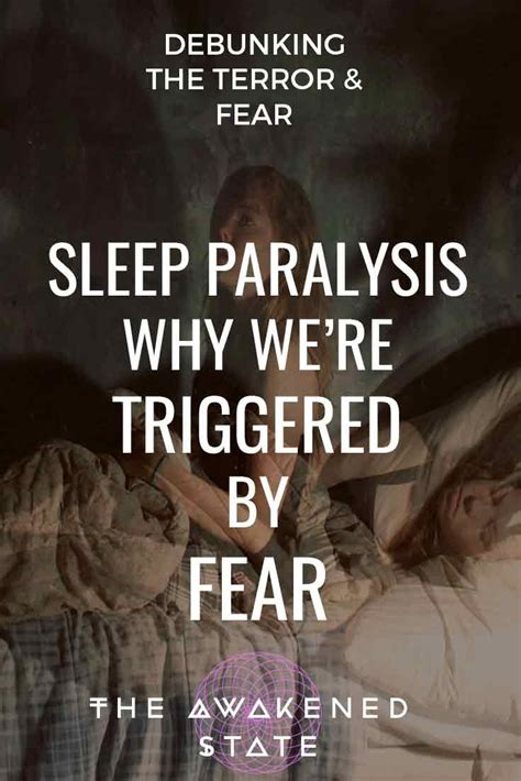 sleep paralysis   triggered  fear