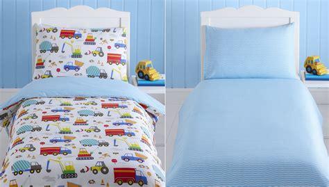 Bright Trucks Baby Boy Kids Toddler Junior Cot Bed Duvet