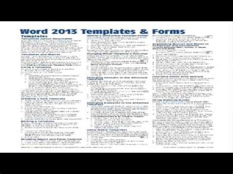 tip sheet template microsoft word 2013 templates forms reference guide sheet of tips shortcu