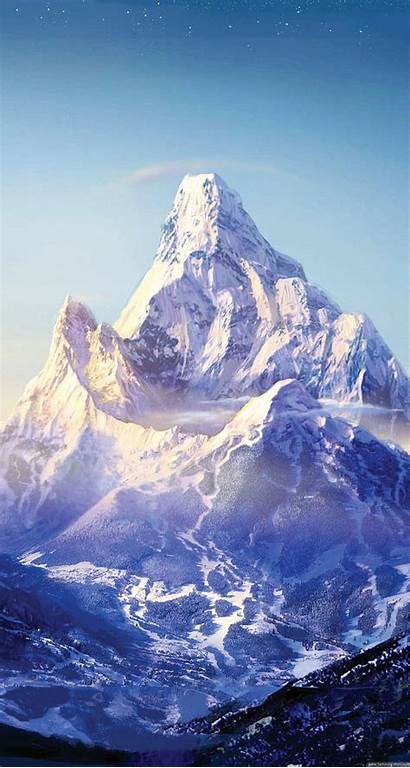 Everest Mountain Snow Stars Iphone Wallpapers Sky