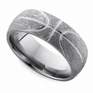 stipple finish basketball pattern men39s wedding ring in With basketball wedding ring
