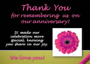 thanks for remembering our free wedding anniversary With thank you message for wedding anniversary