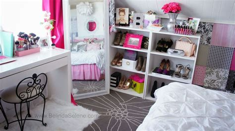 Modern Shabby Chic Room Tour! Pink And White Room