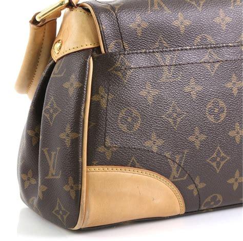 louis vuitton beverly handbag monogram canvas mm  stdibs