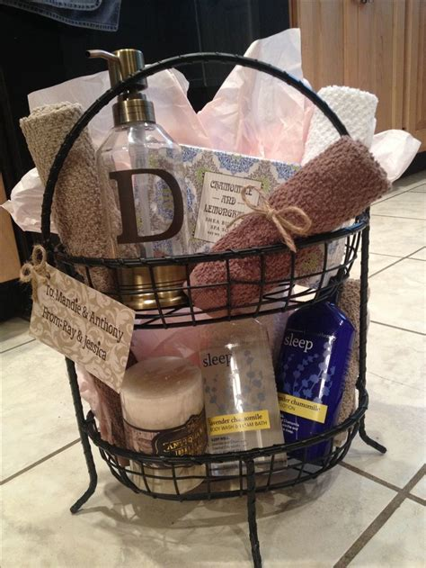 bathroom gift basket ideas diy gift basket i made this for a wedding shower gift super cute idea diy gifts