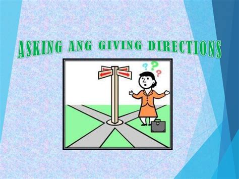 Asking Giving Directions Asking And Giving Directions