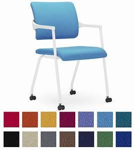 Chaise à Roulettes : chaise de r union et conf rence roulettes ~ Melissatoandfro.com Idées de Décoration