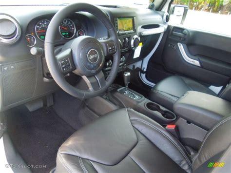 jeep rubicon white interior black interior 2013 jeep wrangler unlimited rubicon 4x4