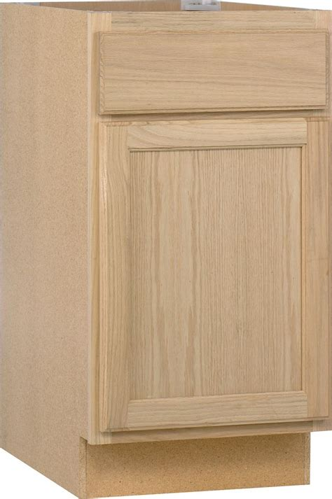 cheap unfinished base cabinets unfinished oak 18 inch base cab b18ohd canada discount
