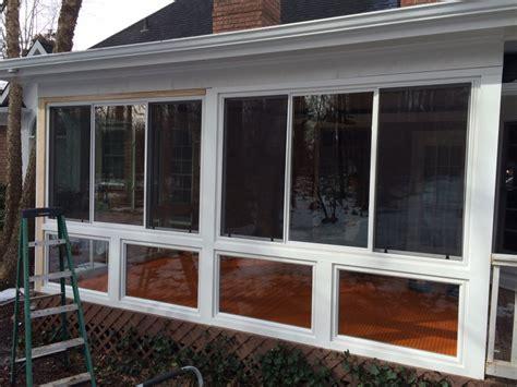 convert screen porch to sunroom belk builders completes a screened porch to sunroom