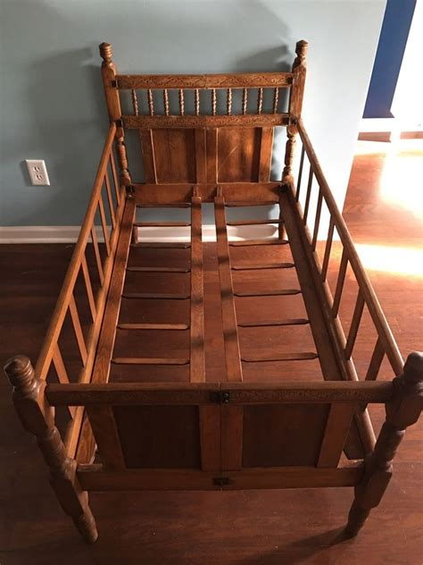 wooden portable crib vintage wooden folding baby crib cot bed child s wood