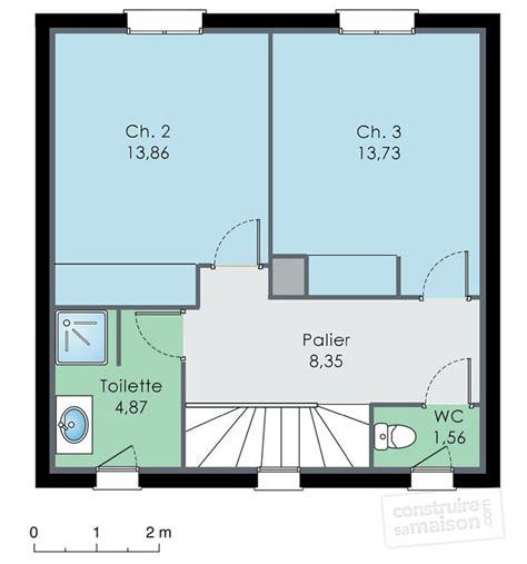 plan maison etage 4 chambres 1 bureau excellent plan etage maison maison spacieuse with plan