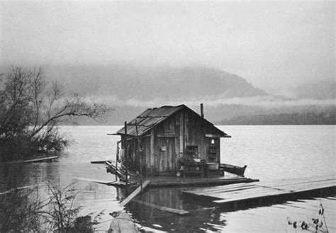 Paper Boat Bottom Quotes by Black And White Lake Vintage Water Floating Cabin