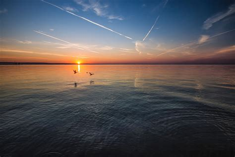 stock photo  beach clouds dawn