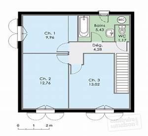 Plan Maison A Etage : maison pour primo acc dants d tail du plan de maison pour primo acc dants faire construire ~ Melissatoandfro.com Idées de Décoration