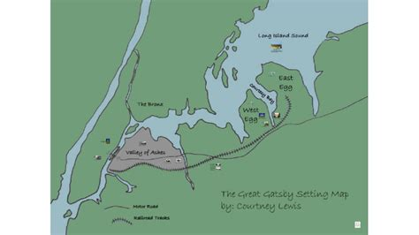 Copy Of The Great Gatsby Setting Map By Mattie Gisselbeck