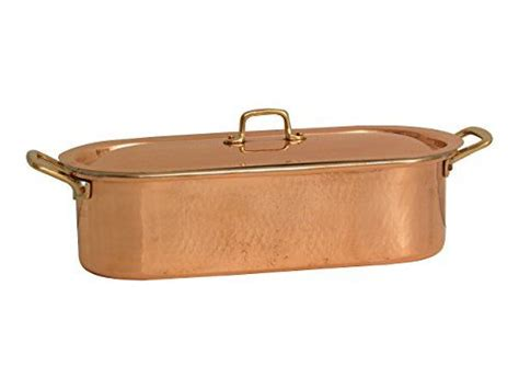 bottega del rame fish kettle kettle copper brass handles