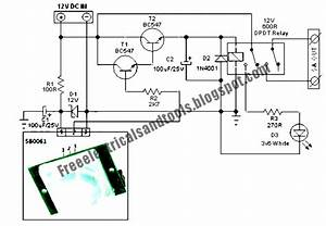 Free Schematic Diagram  Security Light  U0026 Switch Circuit