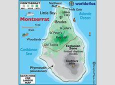 Montserrat Map Geography of Montserrat Map of
