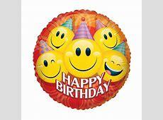 "HeliumLuftballon ""Happy Birthday"" Smilies Geschenkideede"