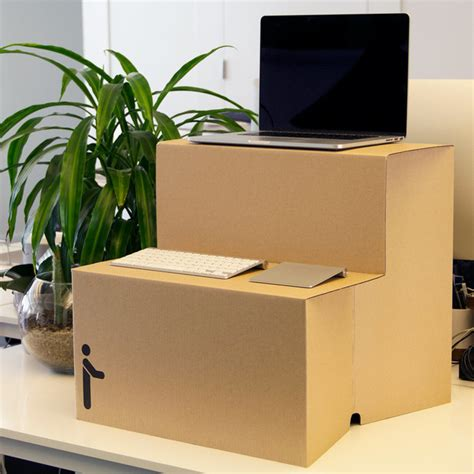 cardboard stand up desk two new flexible standing desk options to sit or to stand