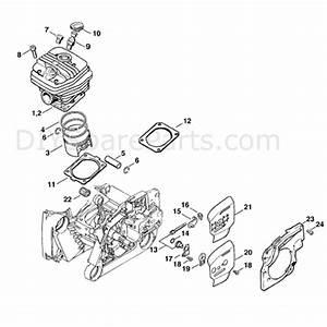 Stihl Ms 660 Chainsaw  Ms660 Magnum R  Parts Diagram  Cylinder