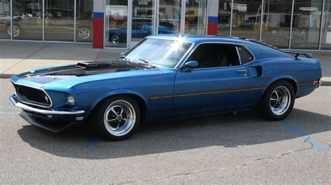 1969 428 Cobra Jet Cars Ford Mustang Mach 1 Reflections