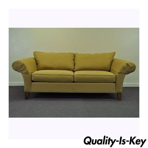 ebay loveseats contemporary ethan allen usa traditional style rolled arm