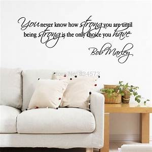 Bob marley quotes motivational wall art sticker decal diy