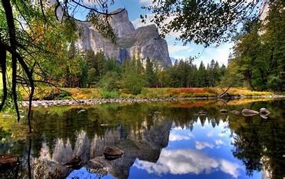 Nature Natura Lake Yosemite Sfondi Paesaggi Mountain