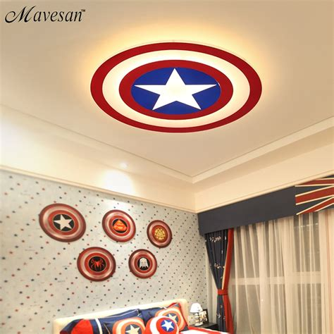 2017 new acrylic led ceiling lights captain america with