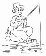 Coloring Fisherman Boy Drawing Pages Fish Getdrawings Sheet sketch template