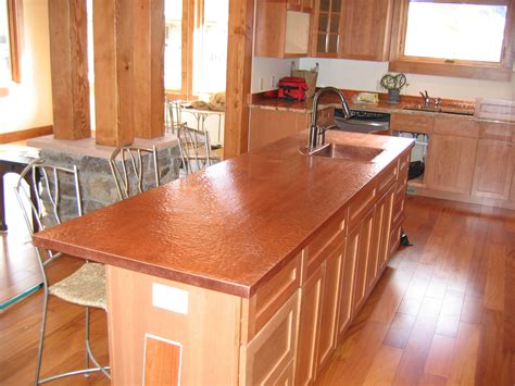 copper top kitchen island copper countertops cost installed plus pros and cons of 5805