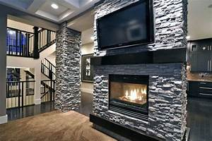 top, 60, best, stacked, stone, fireplace, ideas