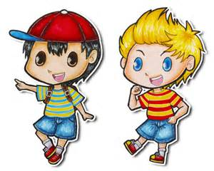 Earthbound Ness and Lucas Chibi