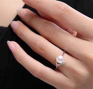 images of pearl wedding rings party themes inspiration With pearl engagement ring with wedding band