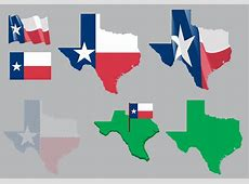 Texas Map and Flag Vector Download Free Vector Art