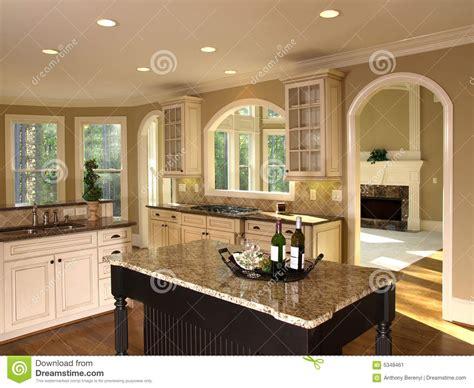 luxury model home kitchen island stock image image